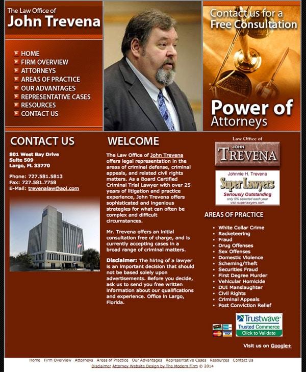 Law Firm Website Design for The Law Office of John Trevena
