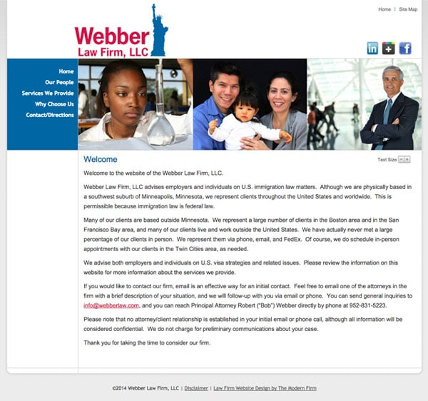 Law Firm Website Design for Webber Law Firm, LLC
