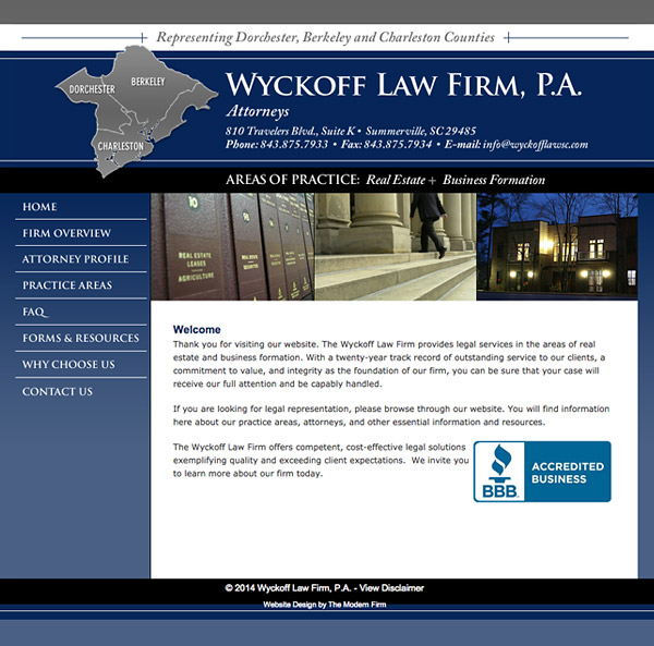 Law Firm Website Design for Wyckoff Law Firm, P.A.