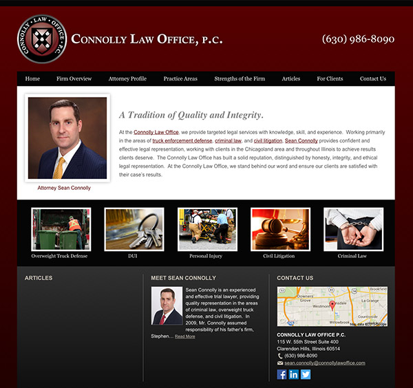 Law Firm Website Design for Connolly Law Office P.C.