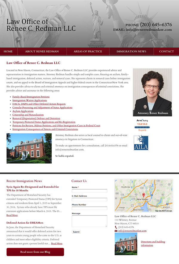 Law Firm Website Design for Law Office of Renee C. Redman LLC