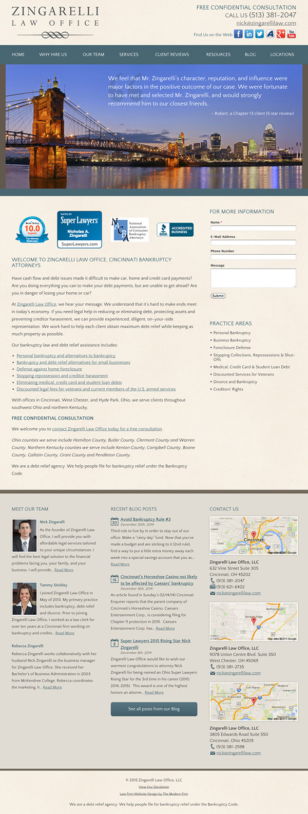 Law Firm Website Design for Zingarelli Law Office, LLC