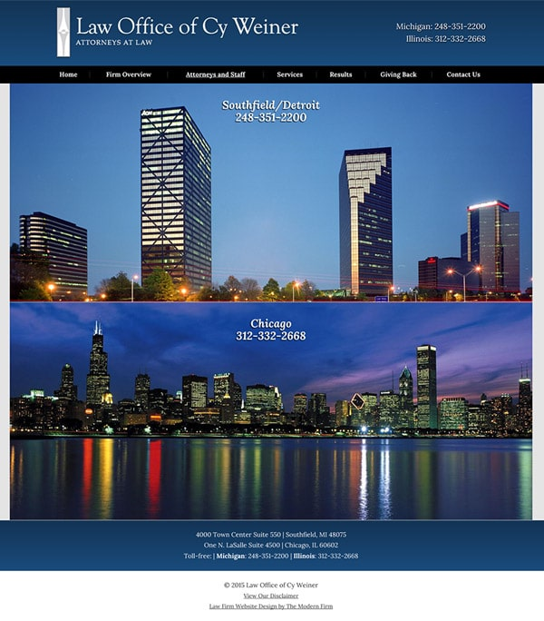 Law Firm Website for Law Office of Cy Weiner
