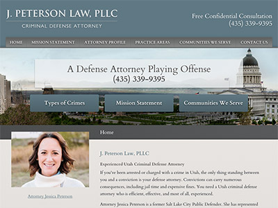Law Firm Website design for J. Peterson Law, PLLC