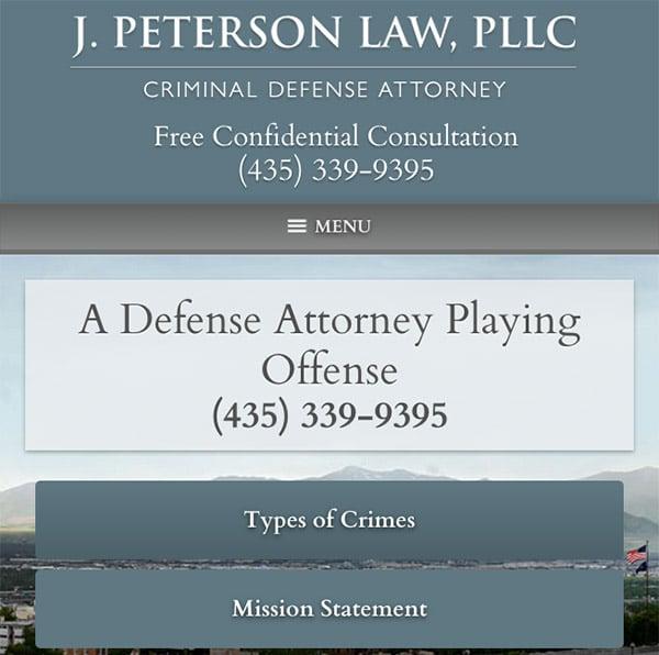 Mobile Friendly Law Firm Webiste for J. Peterson Law, PLLC