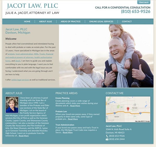 Law Firm Website for Jacot Law, PLLC