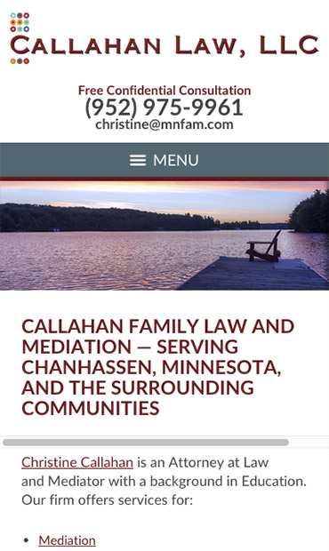 Responsive Mobile Attorney Website for Callahan Law, LLC