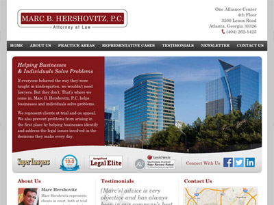 Law Firm Website design for Marc B. Hershovitz, P.C.