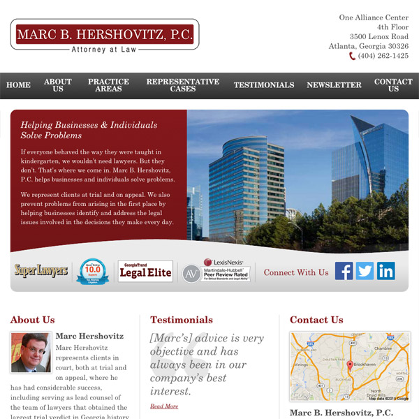 Mobile Friendly Law Firm Webiste for Marc B. Hershovitz, P.C.