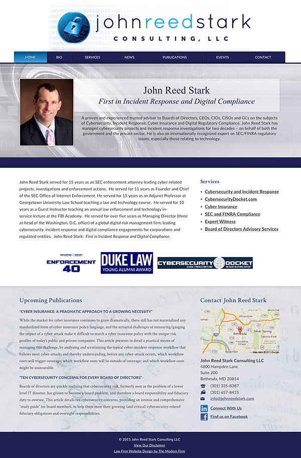 Law Firm Website Design for John Reed Stark Consulting, LLC