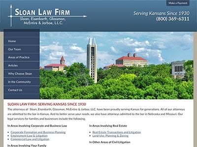 Law Firm Website design for Sloan, Eisenbarth, Glassm…