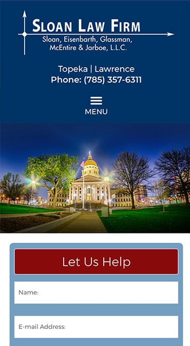 Responsive Mobile Attorney Website for Sloan, Eisenbarth, Glassman, McEntire & Jarboe, L.L.C.