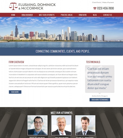 Law firm wbsite design concept Layout #100