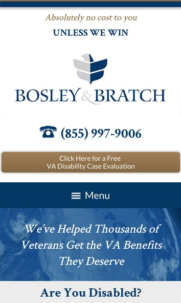 Responsive Mobile Attorney Website for Bosley & Bratch