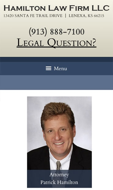 Responsive Mobile Attorney Website for Hamilton Law Firm LLC