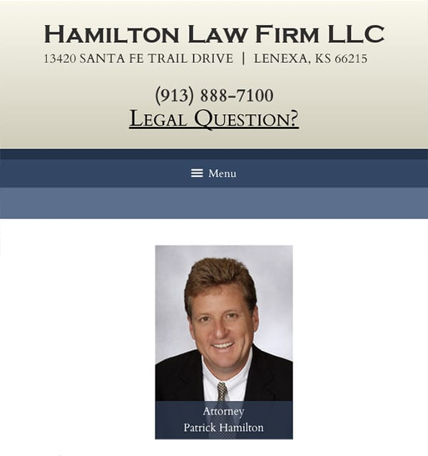Mobile Friendly Law Firm Webiste for Hamilton Law Firm LLC