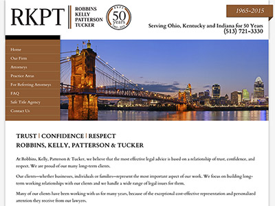 Law Firm Website design for Robbins Kelly Patterson T…
