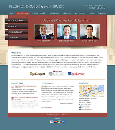 Law firm wbsite design concept Layout #84