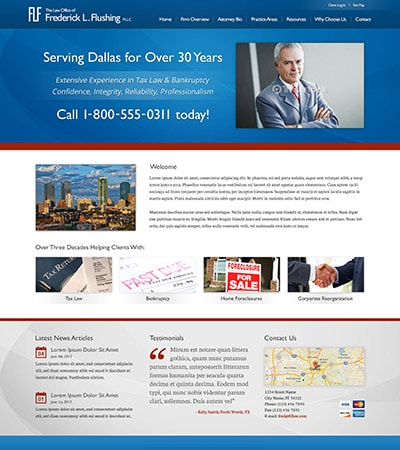 Law firm wbsite design concept Layout #85