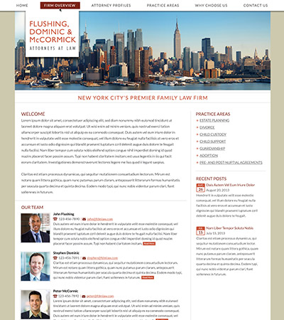 Law firm wbsite design concept Layout #86