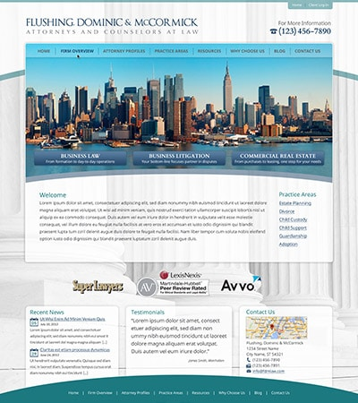Law firm wbsite design concept Layout #87