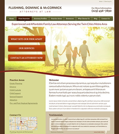 Law firm wbsite design concept Layout #88