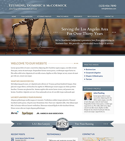 Law firm wbsite design concept Layout #93