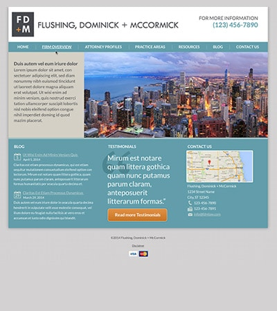 Law firm wbsite design concept Layout #97