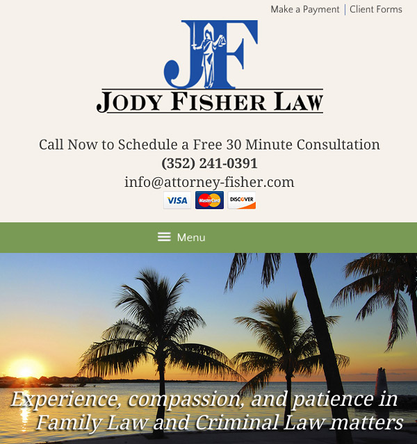 Mobile Friendly Law Firm Webiste for Law Office of Jody L. Fisher