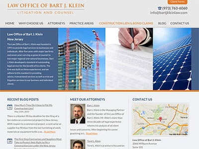 Law Firm Website design for Law Office of Bart J. Kle…