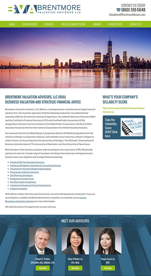 Law Firm Website for Brentmore Advisors