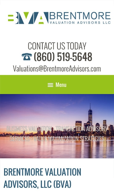 Responsive Mobile Attorney Website for Brentmore Advisors