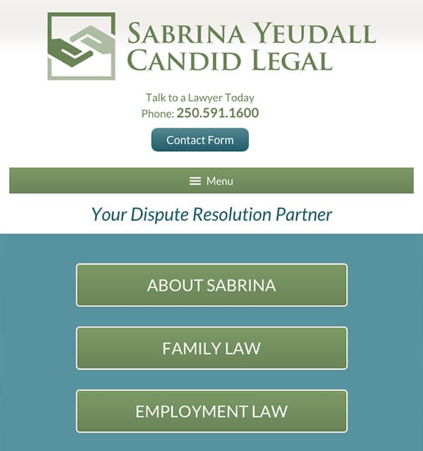 Mobile Friendly Law Firm Webiste for Candid Legal