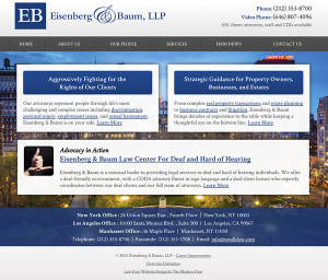 New York Law Firm Website Design
