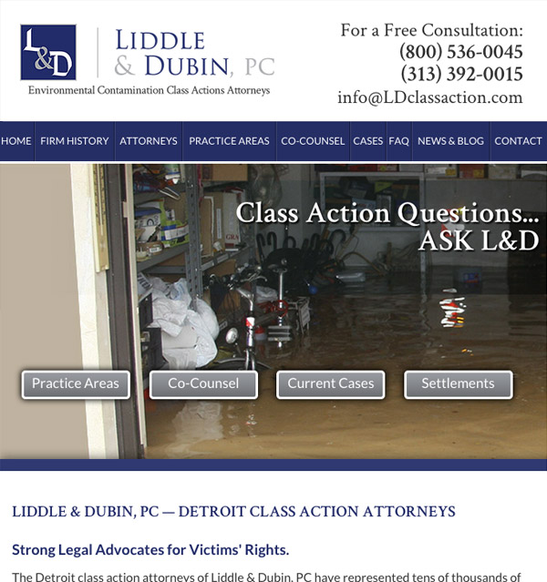 Mobile Friendly Law Firm Webiste for Liddle & Dubin, P.C.