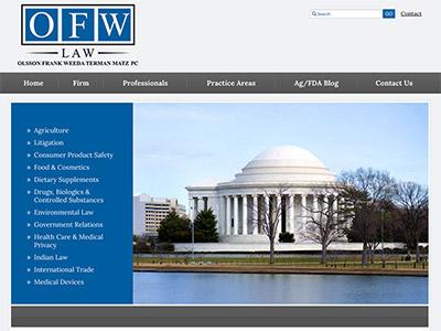 Law Firm Website design for Olsson Frank Weeda Terman…