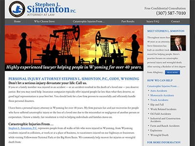 Law Firm Website design for Stephen L. Simonton P.C.