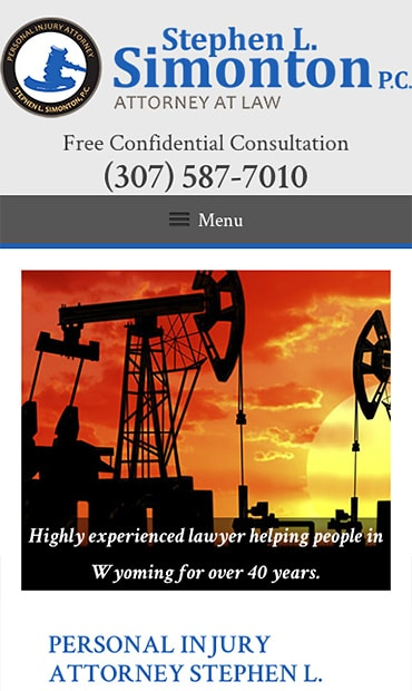 Responsive Mobile Attorney Website for Stephen L. Simonton P.C.