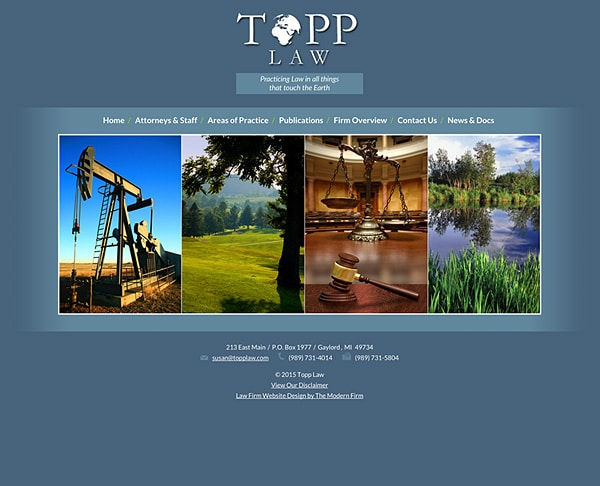 Law Firm Website Design for Topp Law