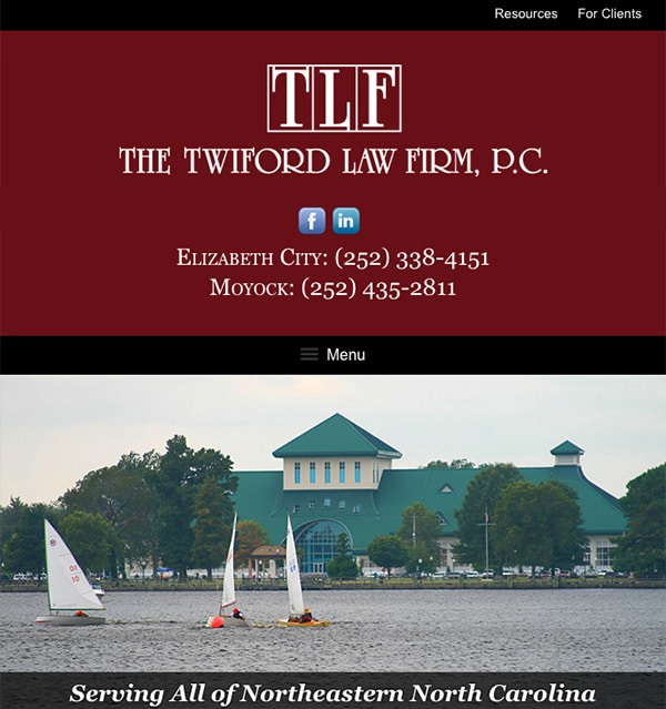 Mobile Friendly Law Firm Webiste for The Twiford Law Firm, P.C.