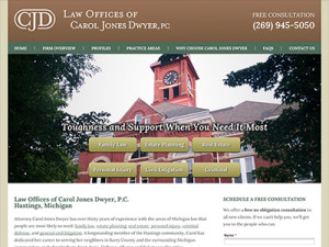 Website for Hastings Michigan Solo Attorney