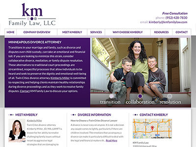 Minneapolis Divorce Lawyer Website