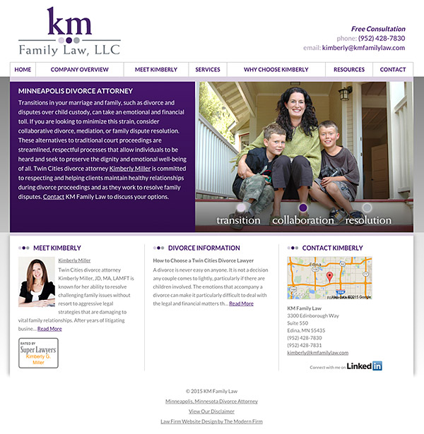 Law Firm Website Design for KM Family Law, LLC