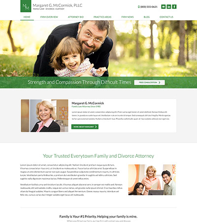 Law firm wbsite design concept Layout #106