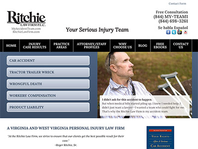 Virginia Law Firm Website Design
