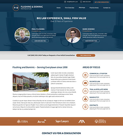 Law firm wbsite design concept Layout #104