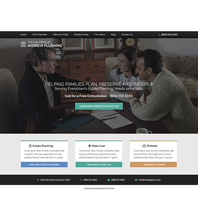 Law firm wbsite design concept Layout #105