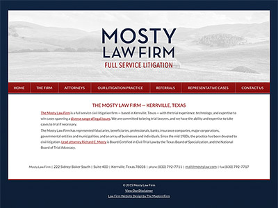 Kerrville Texas Attorney Website Design