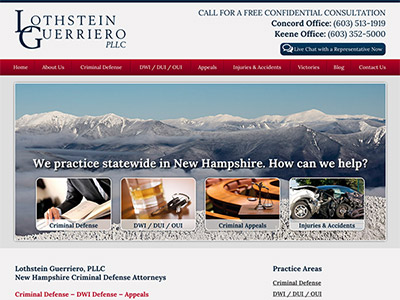 Law Firm Website design for Lothstein Guerriero, PLLC