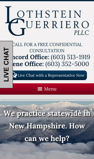 Responsive Mobile Attorney Website for Lothstein Guerriero, PLLC